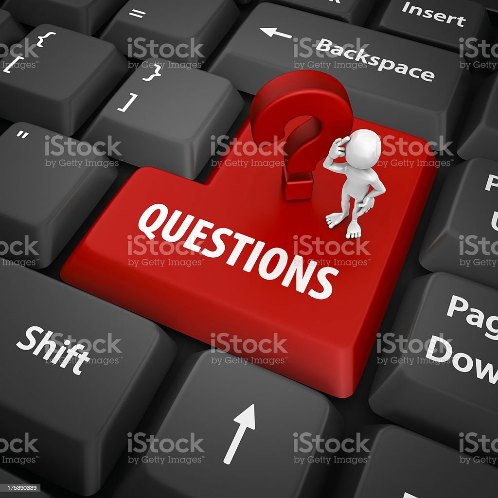 questions enter key royalty-free stock photo
