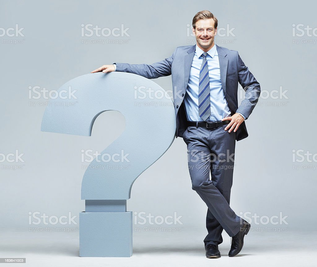 Questions lead the way to discoveries stock photo