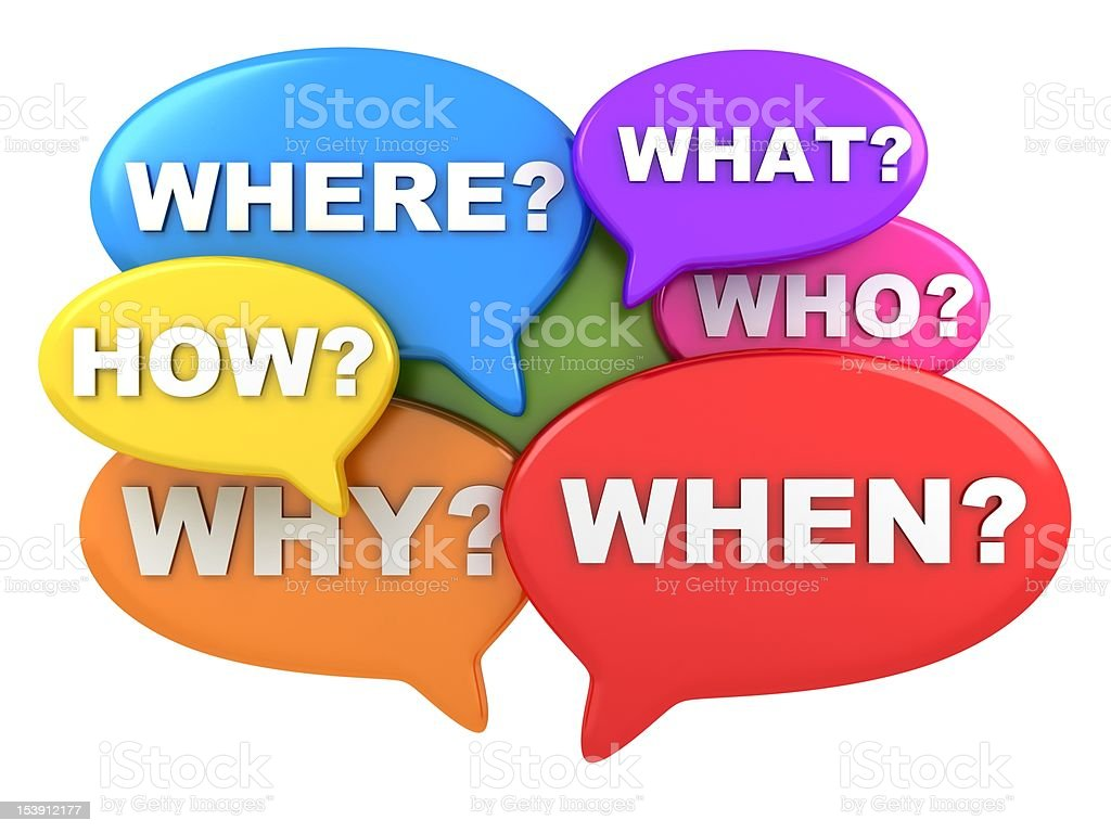 Questions multicolour royalty-free stock photo