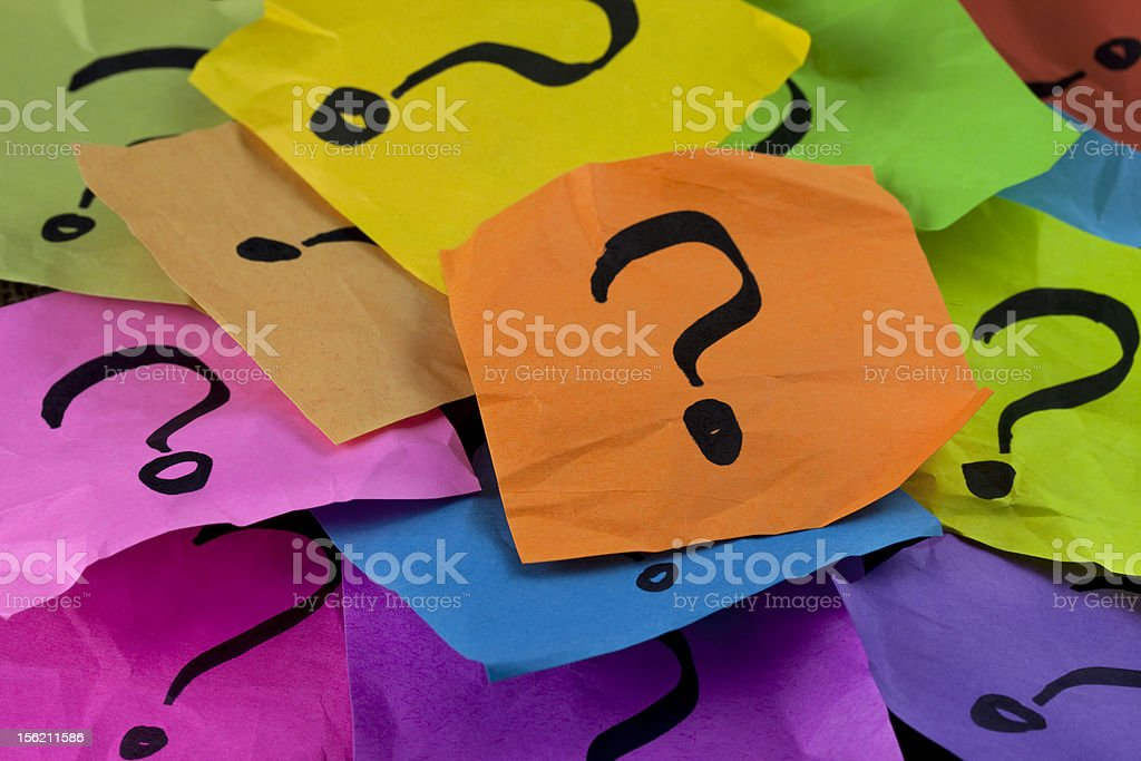questions or decision making concept royalty-free stock photo