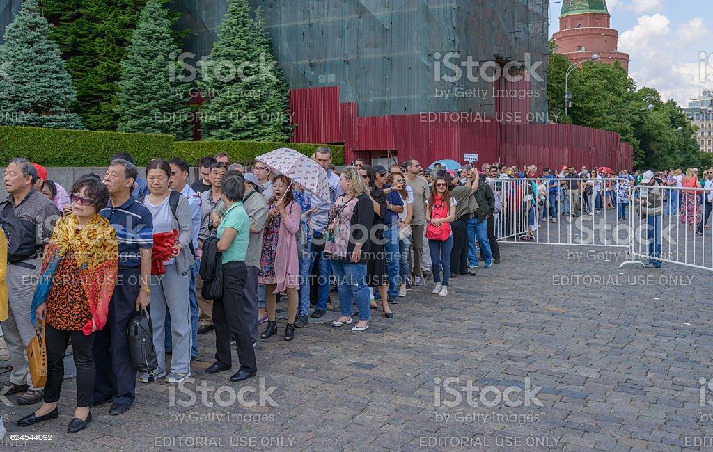 Queue in Lenin's Mausoleum. stock photo