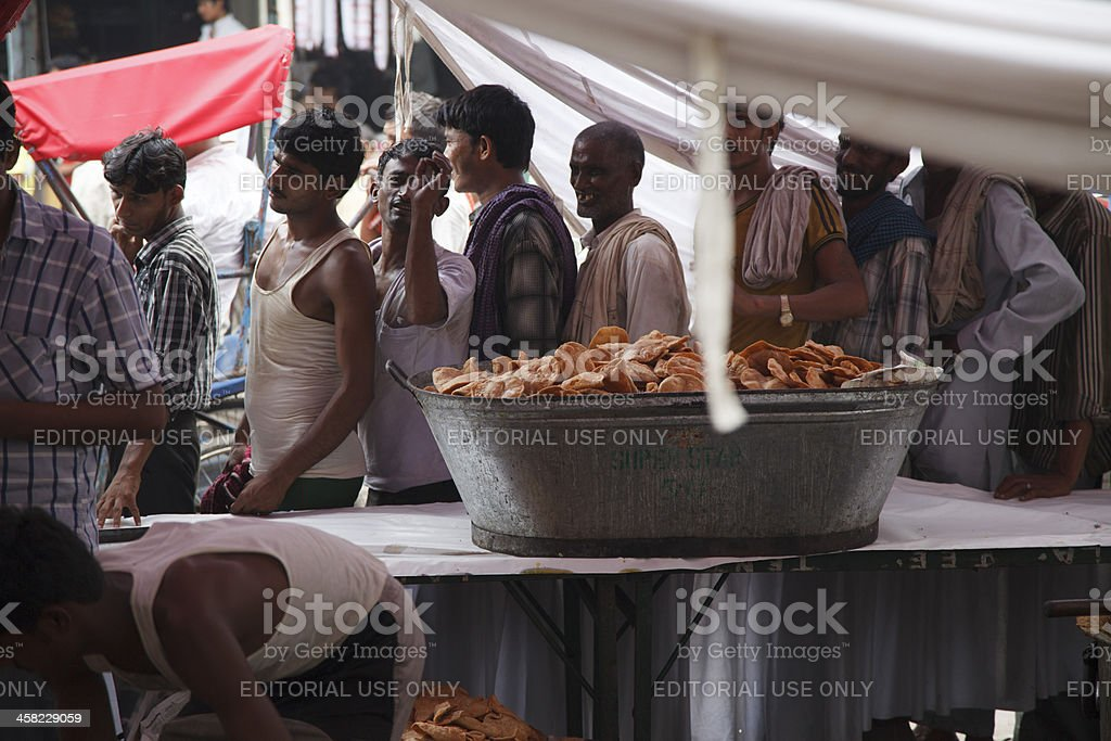 Queuing to be Served royalty-free stock photo