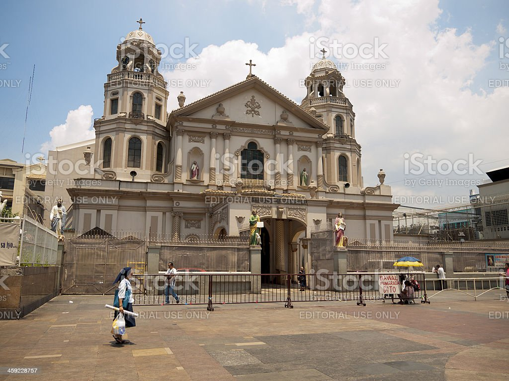 Quiapo Church in the centre of metropolitan Manila royalty-free stock photo