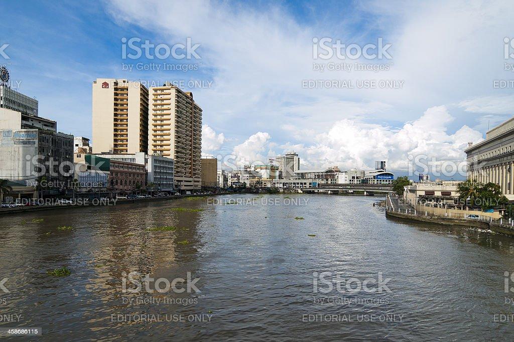 Quiapo skyline, Manila royalty-free stock photo