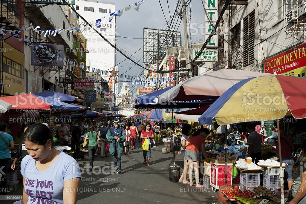 Quiapo street market royalty-free stock photo