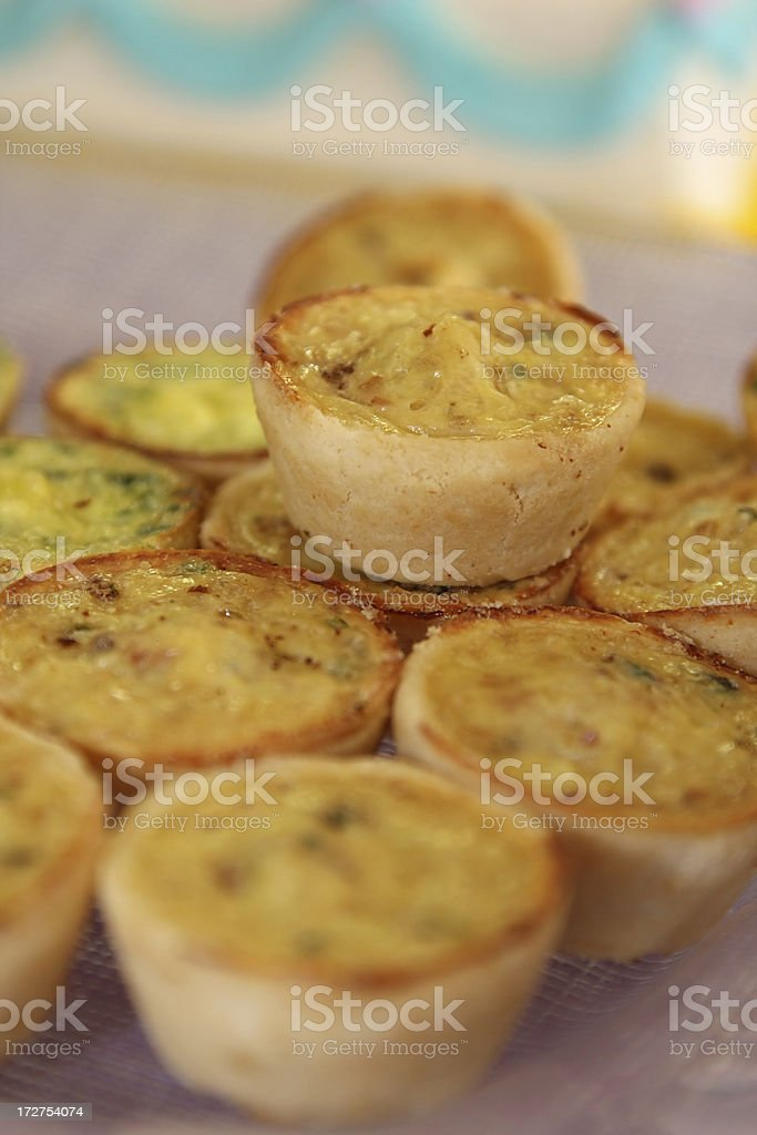 Quiche Appetizer stock photo