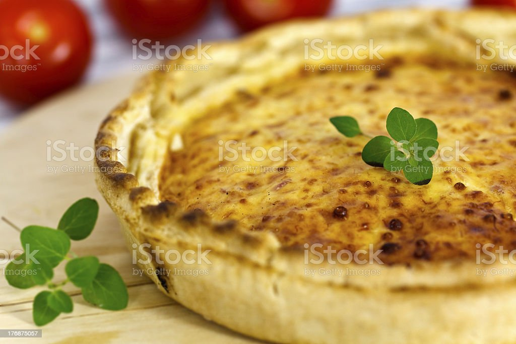 Quiche Lorraine on the Table stock photo