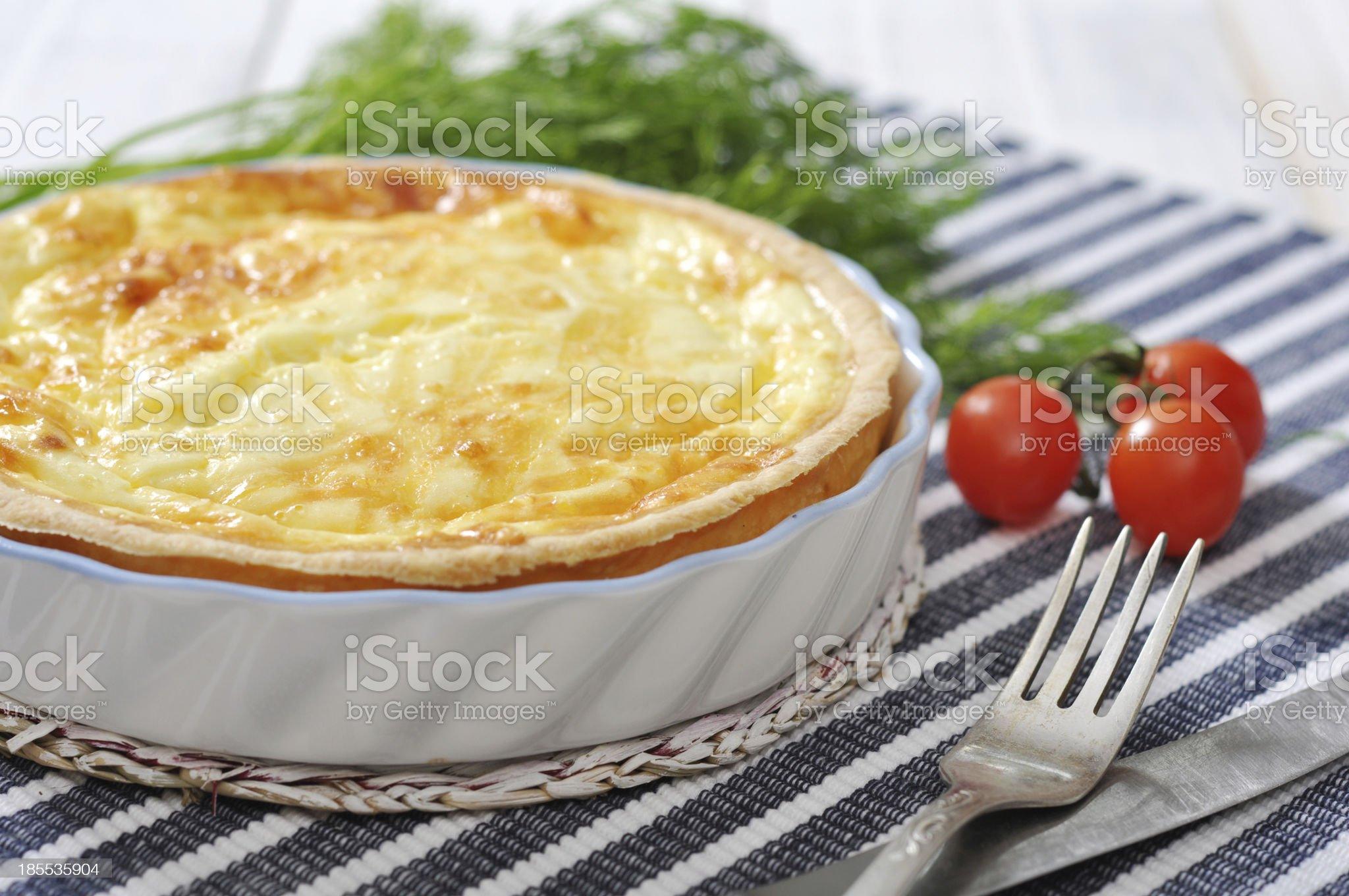 quiche pie with spinach and cheese royalty-free stock photo