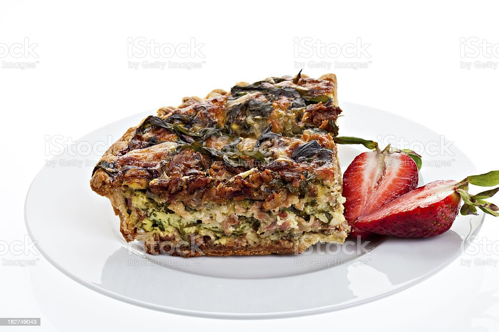 Quiche Plate royalty-free stock photo