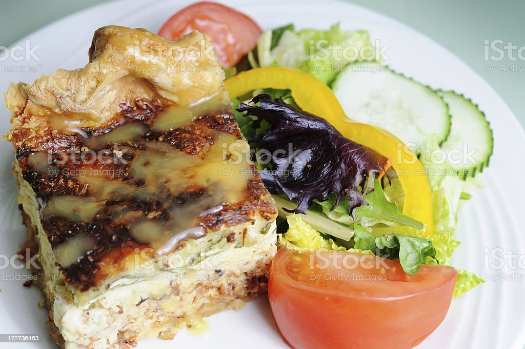 Quiche & Salad stock photo