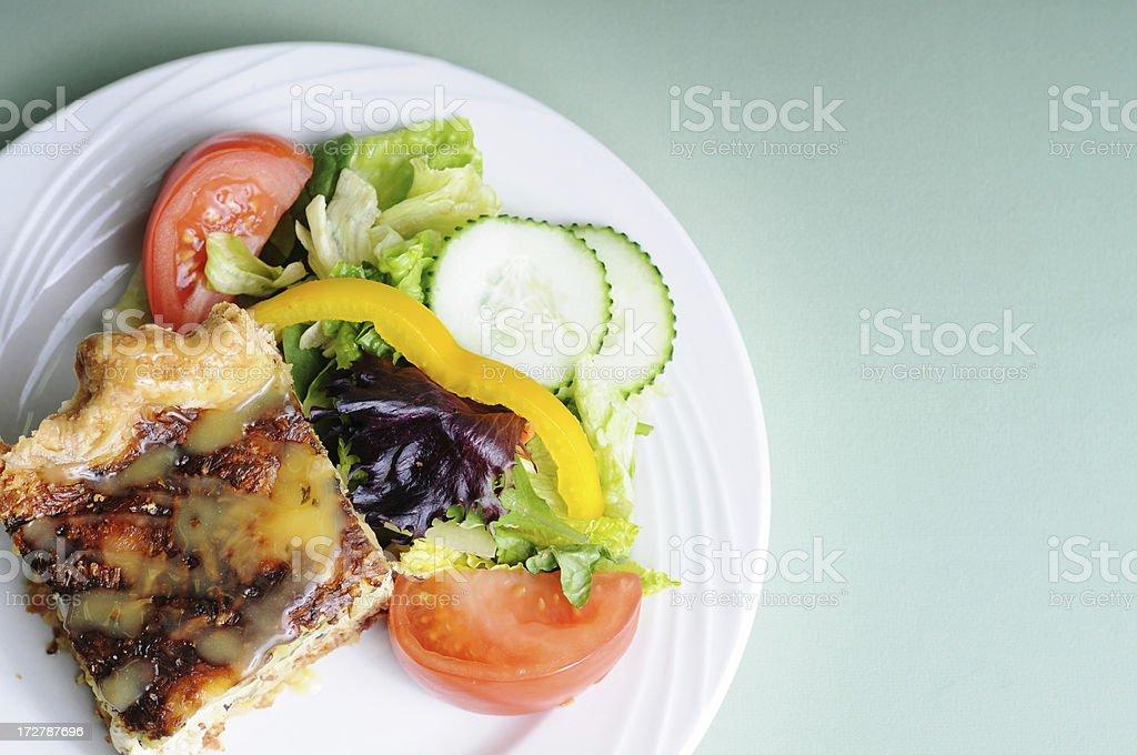 Quiche & Salad royalty-free stock photo
