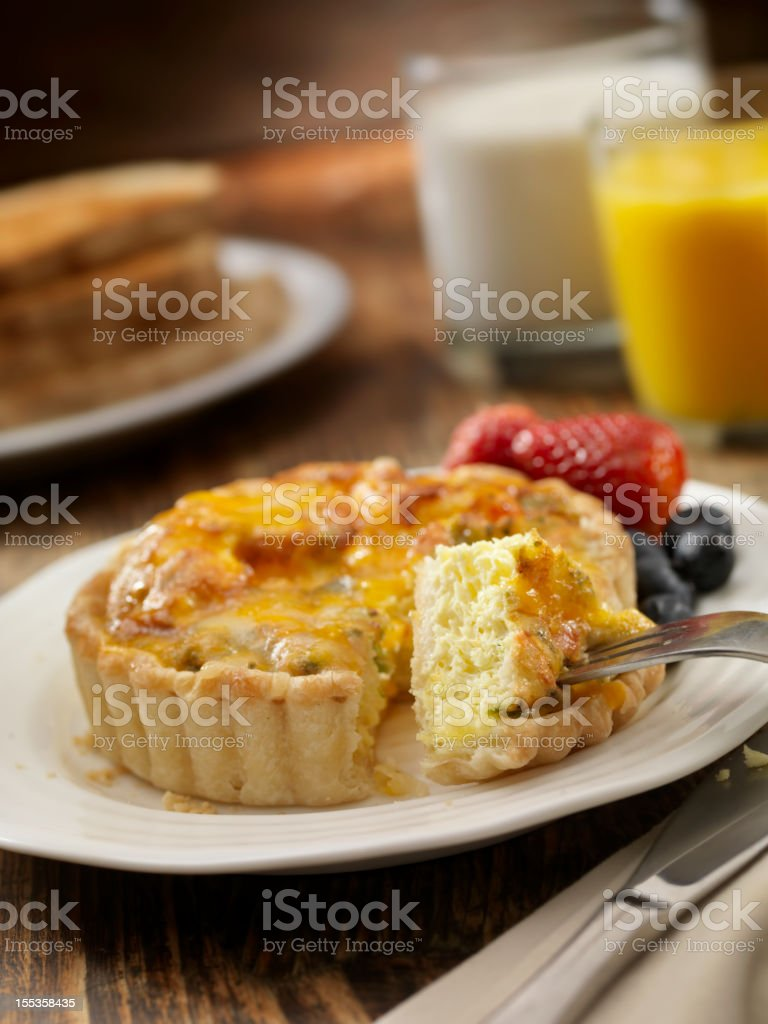 Quiche with Fresh Fruit stock photo