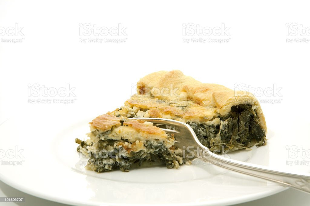 quiche with herbs stock photo