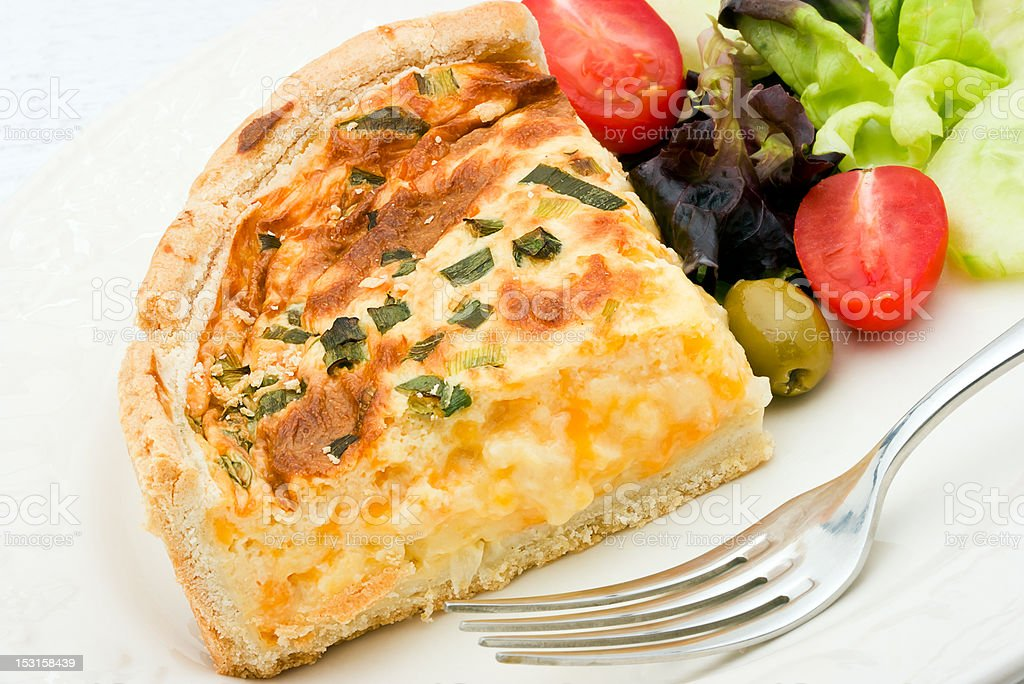 Quiche with salad royalty-free stock photo
