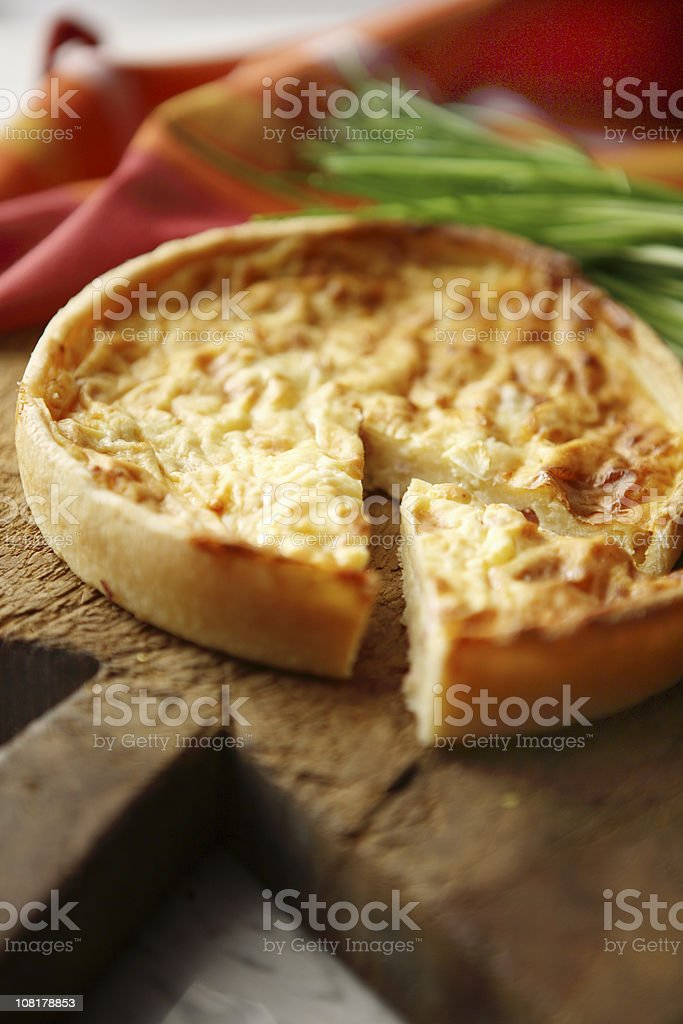 *Quiche with Slice Cut Out stock photo