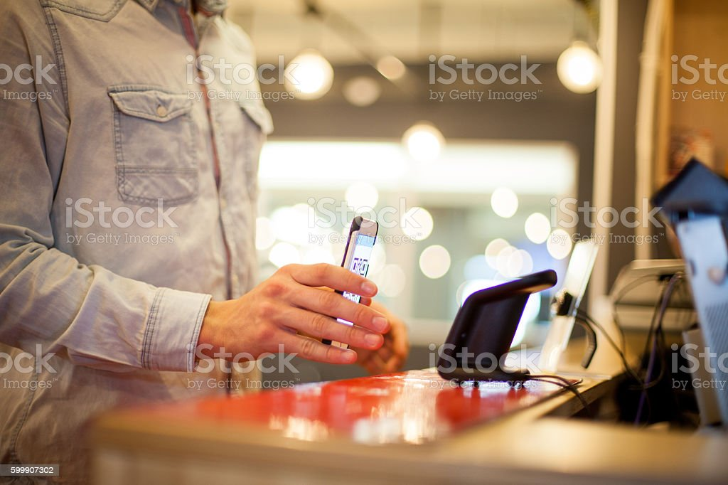 Quick and easy payment method stock photo