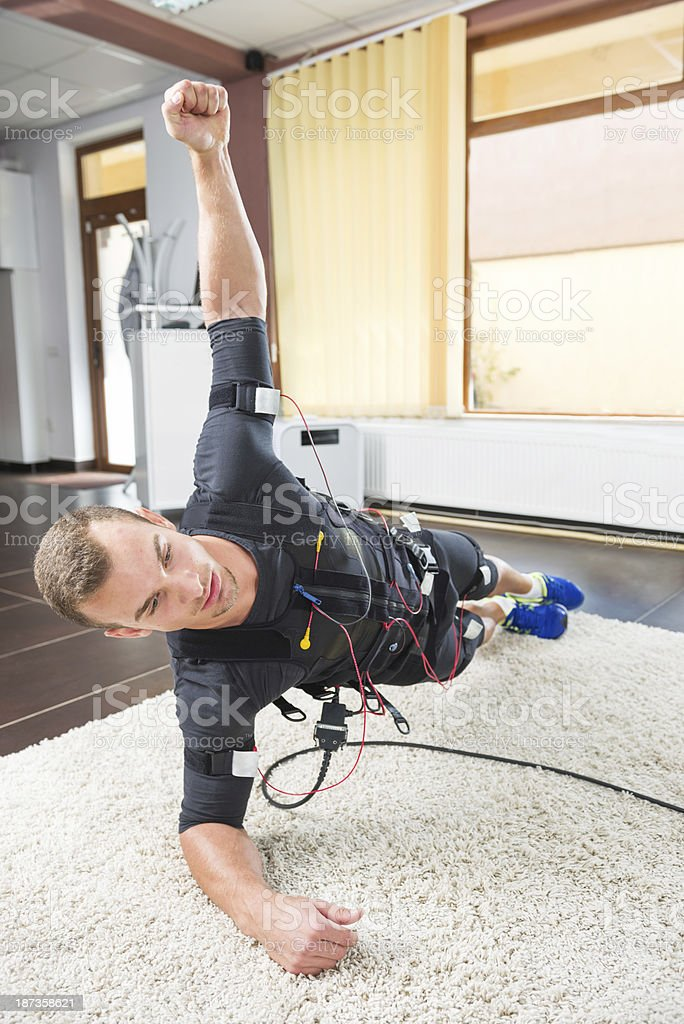 Quick and Intense Fitness Training royalty-free stock photo