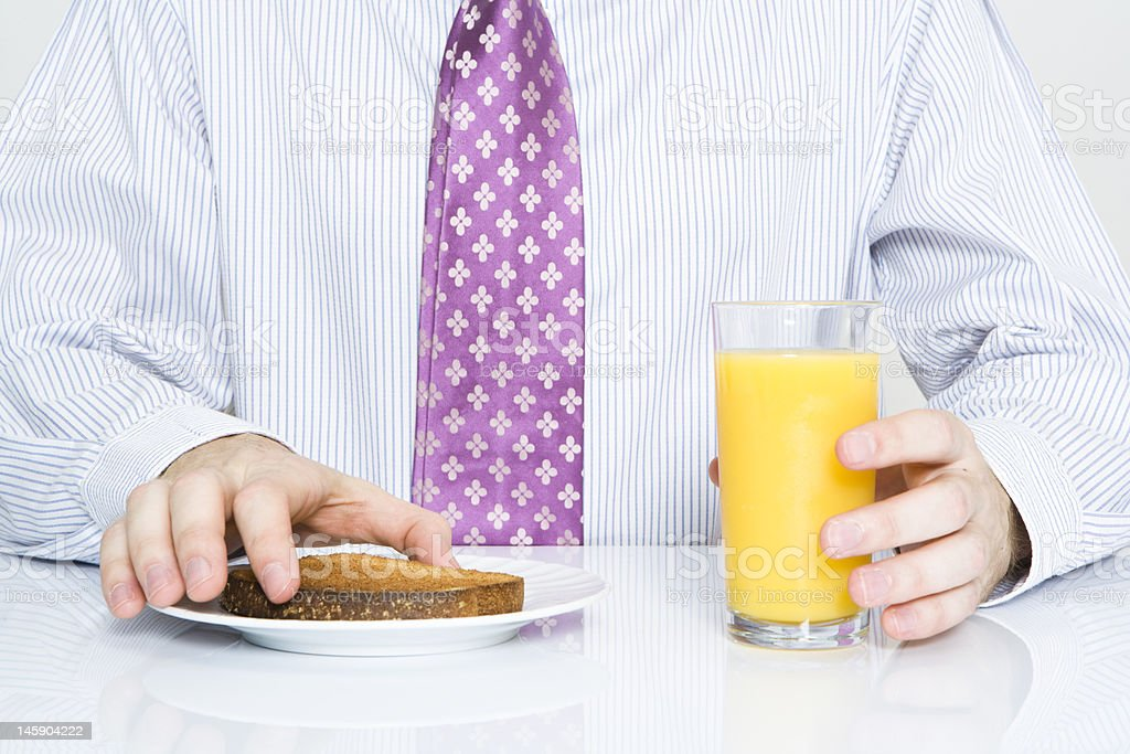 Quick breakfast royalty-free stock photo