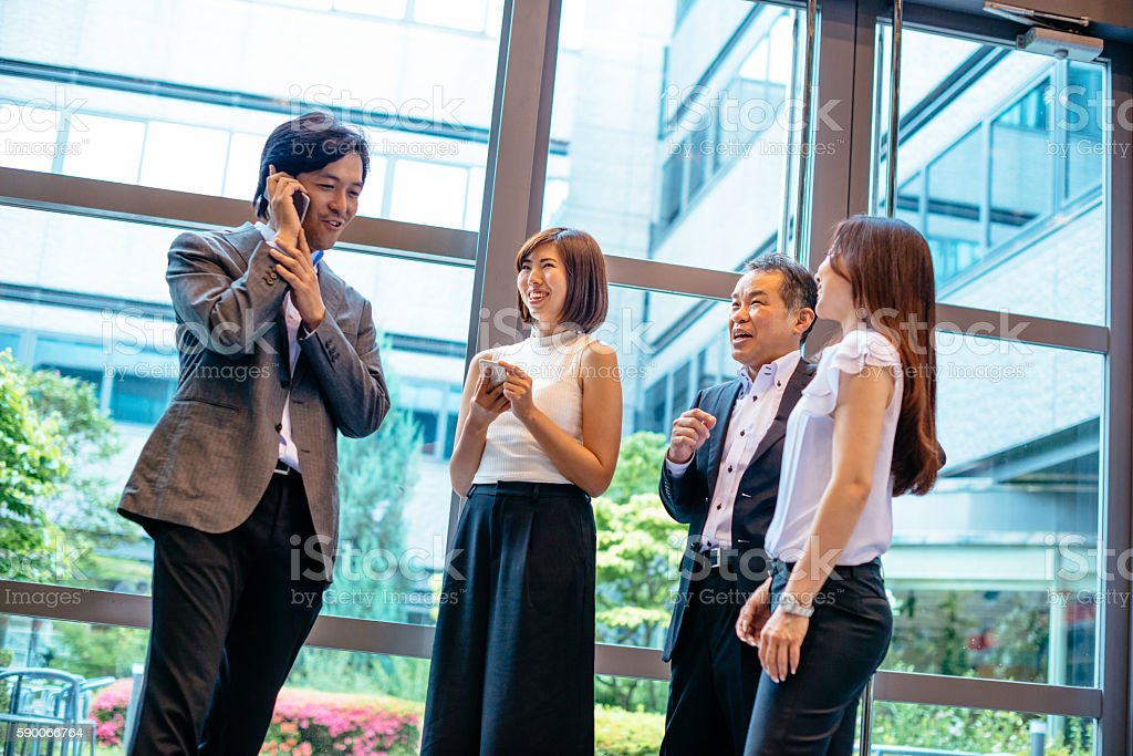 Quick business planning for successful meeting stock photo