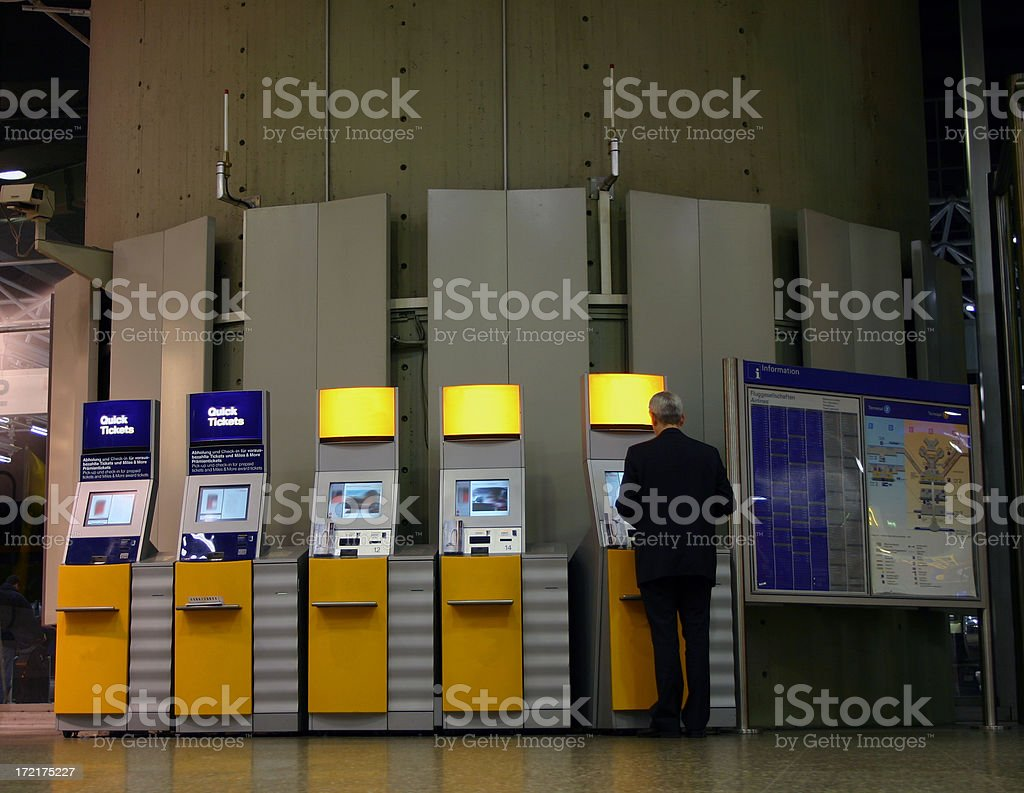 Quick check in at the airport stock photo