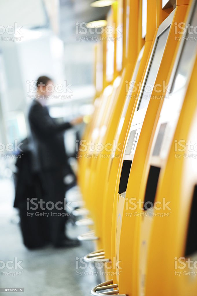 Quick Check-In At Airport royalty-free stock photo