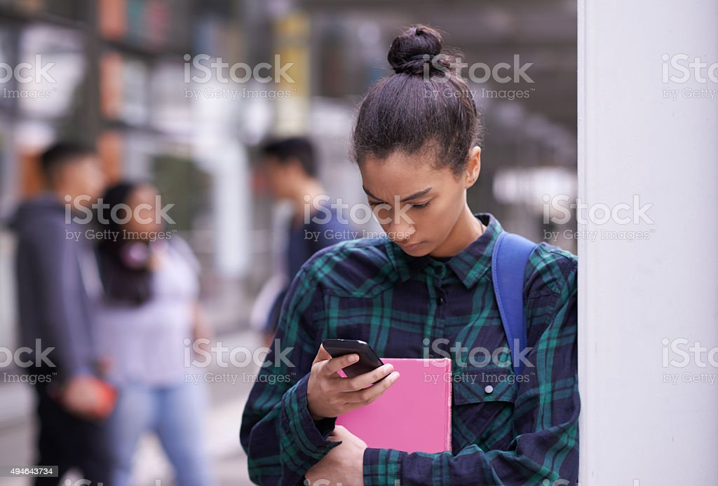 Quick fact check before class stock photo