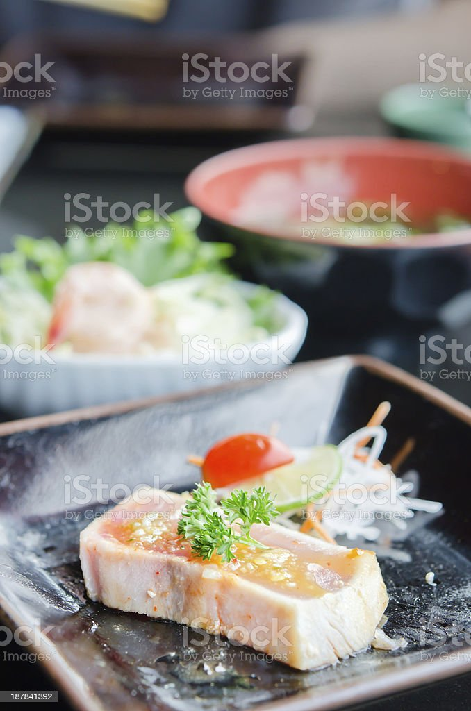 Quick grilled fish royalty-free stock photo