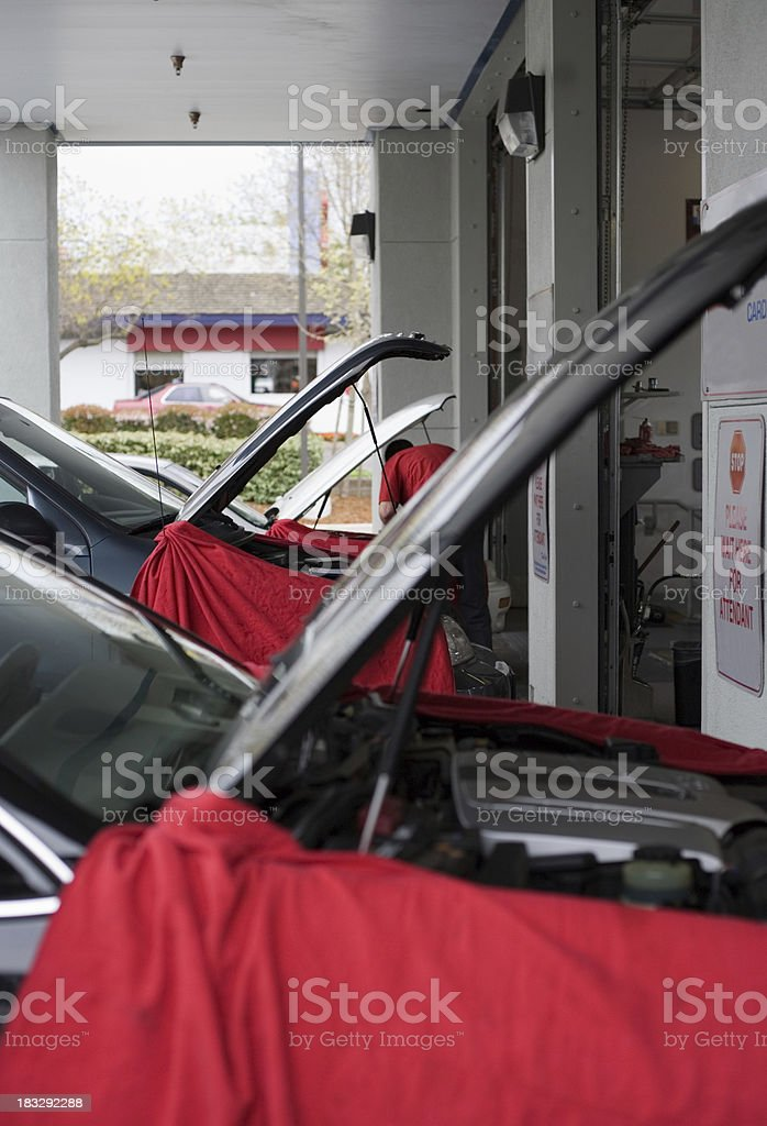 Quick Oil Change Garage Entrance royalty-free stock photo