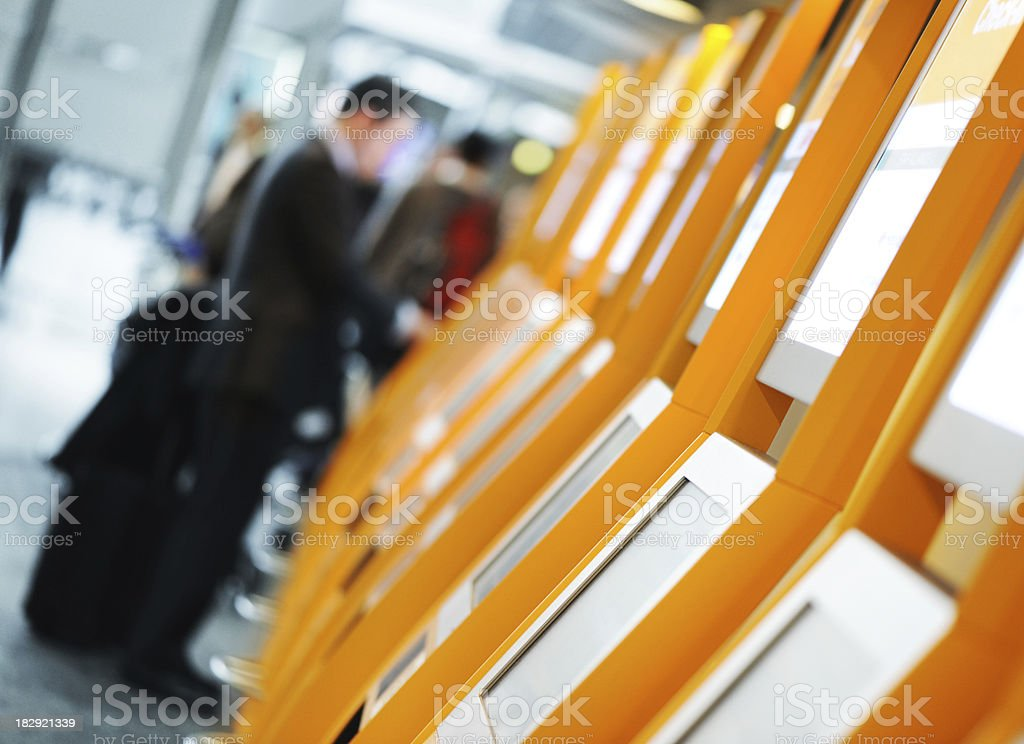 Quick Self Check in at an Airport royalty-free stock photo