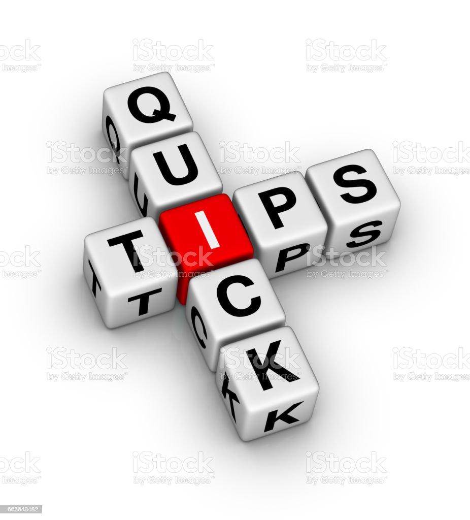 Quick Tips stock photo