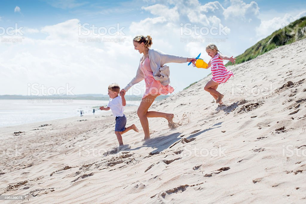 Quick, to the sea! stock photo