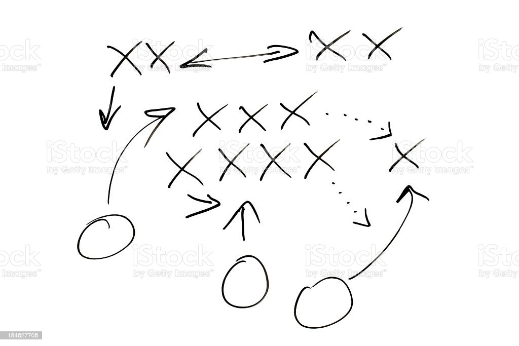 Quick X and O strategy diagram royalty-free stock photo