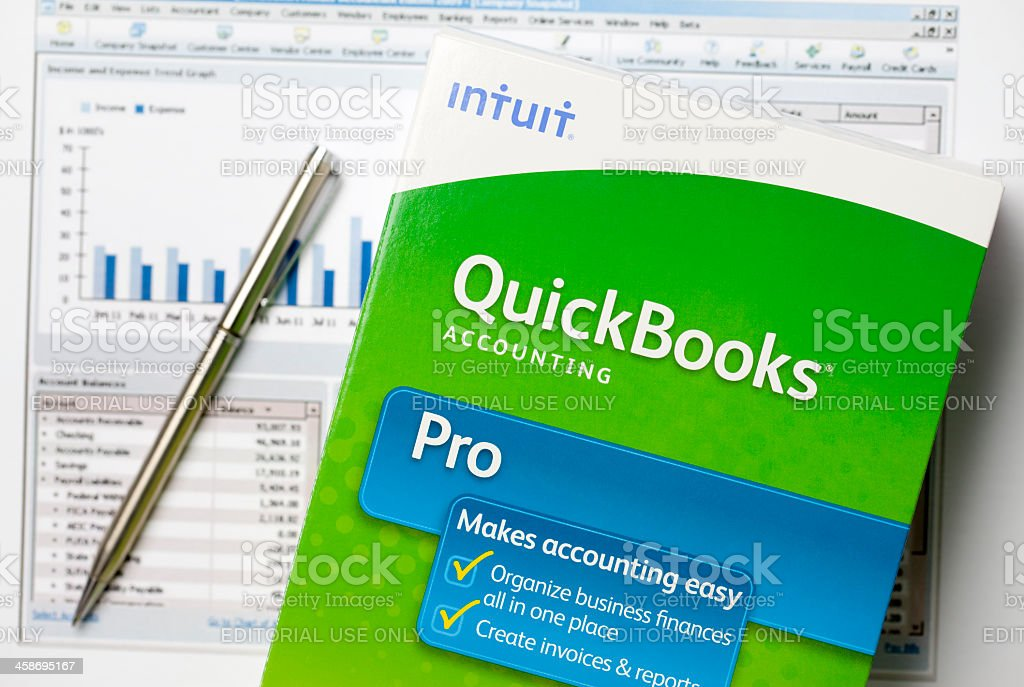 QuickBooks royalty-free stock photo
