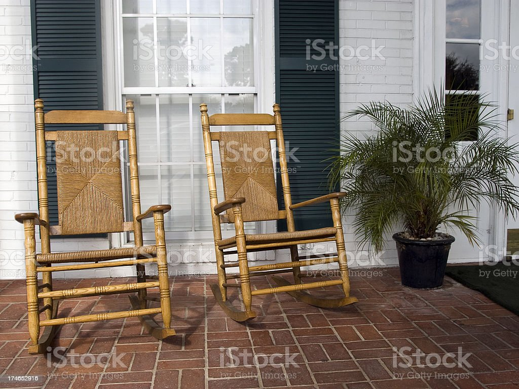 Quiet afternoon on a Plantation Porch stock photo