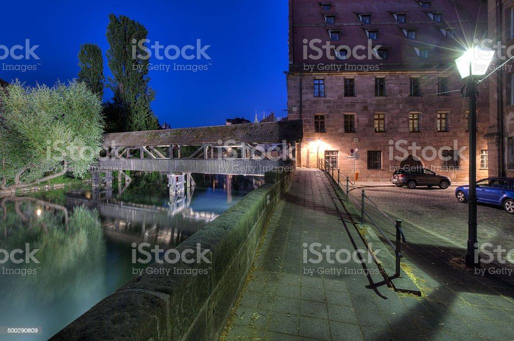 Quiet Alley And Hangmans Bridge stock photo