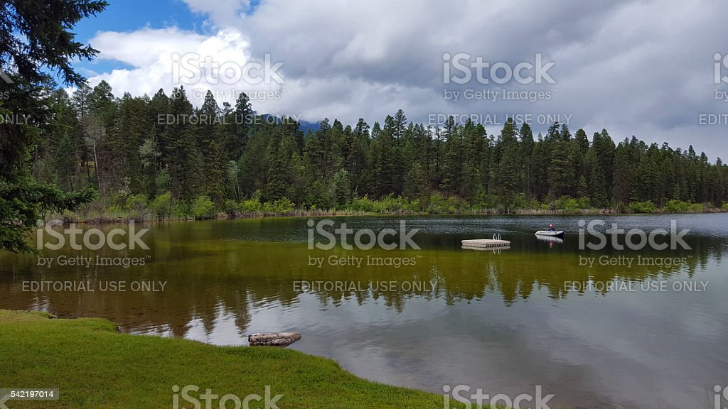 Quiet And Alone With Nature On The Lake stock photo