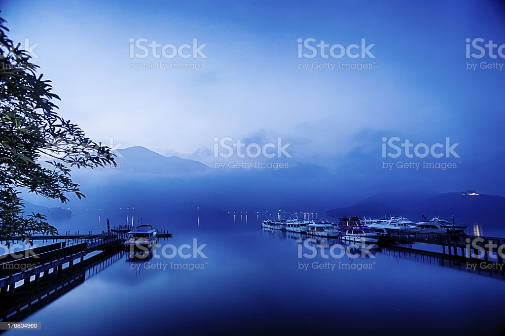 Quiet and relaxing lake stock photo