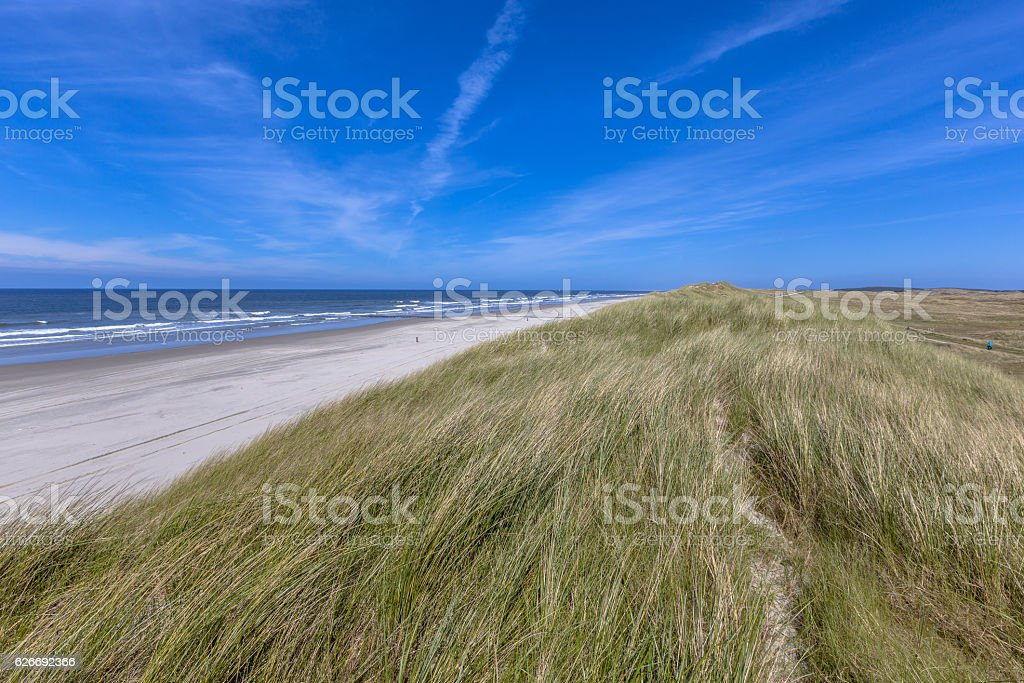 Quiet beach on Wadden island stock photo