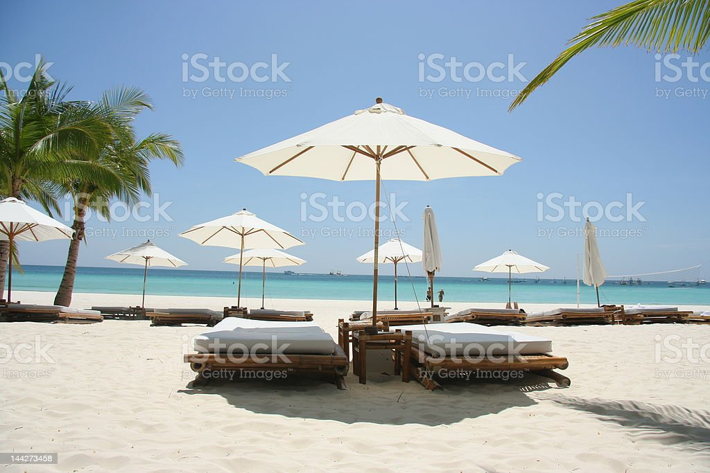 quiet beach time royalty-free stock photo