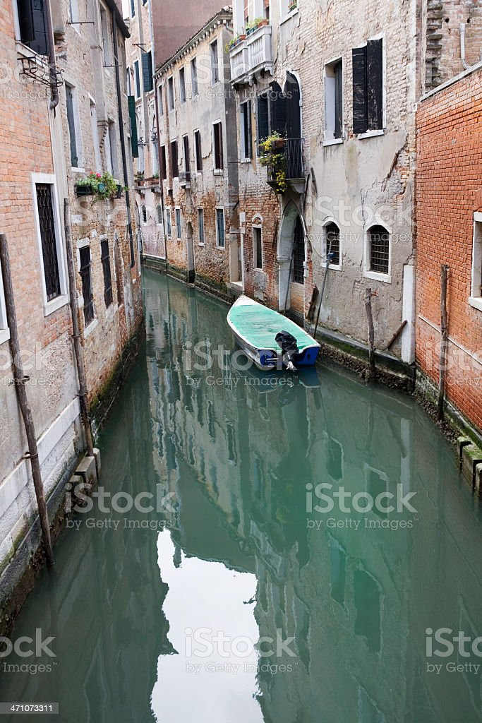 Quiet Canal in Venice Italy royalty-free stock photo