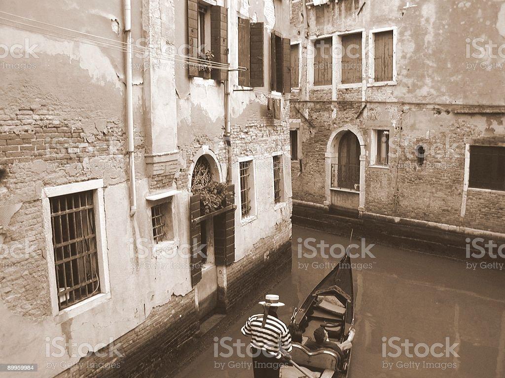 Quiet Canal, Venice, Italy. royalty-free stock photo