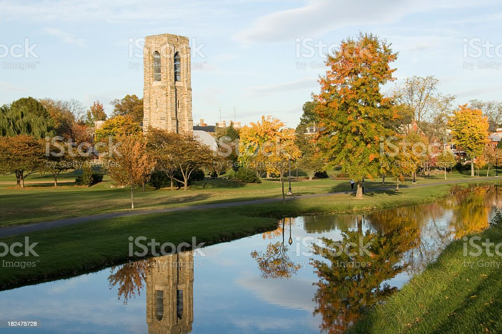 Quiet Carillon Reflections On An Autumn Day stock photo