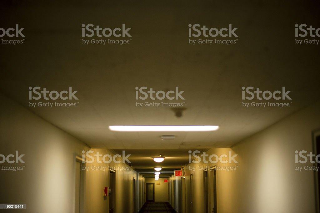 Quiet corridor stock photo