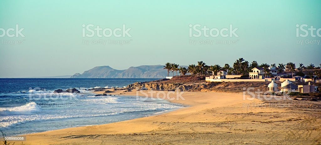 Quiet each near Cabo on the Pacific Ocean stock photo