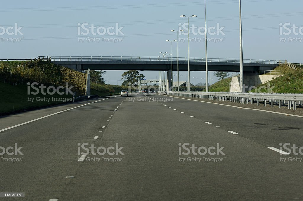 quiet english motorway freeway highway royalty-free stock photo