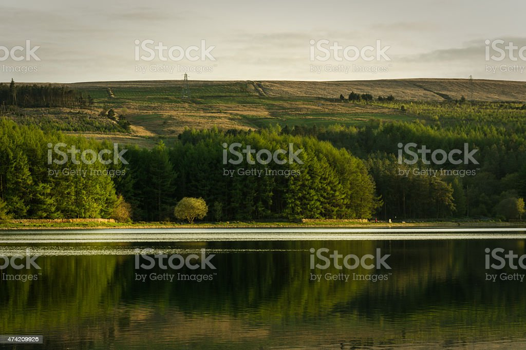 Quiet Evening At A Calm English Lake. stock photo