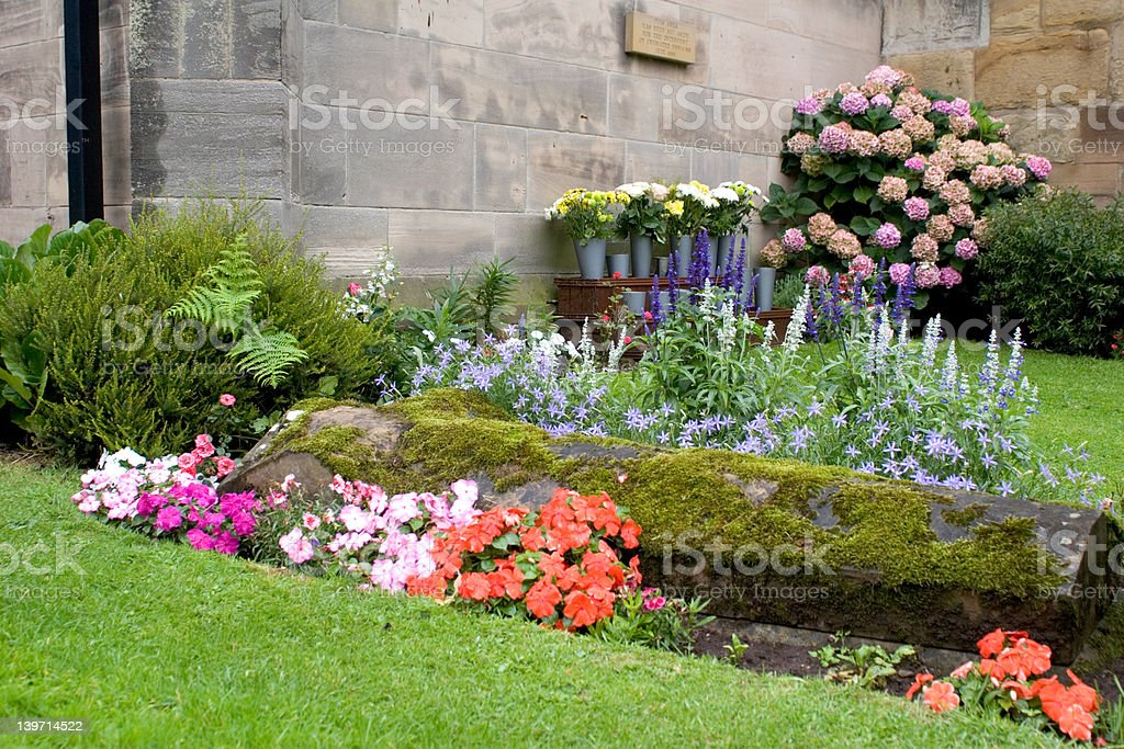 Quiet Garden of Rest royalty-free stock photo