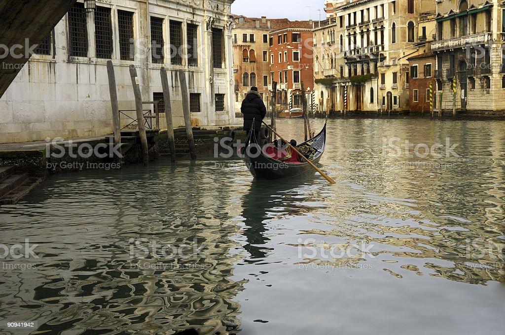 Quiet Gondola royalty-free stock photo