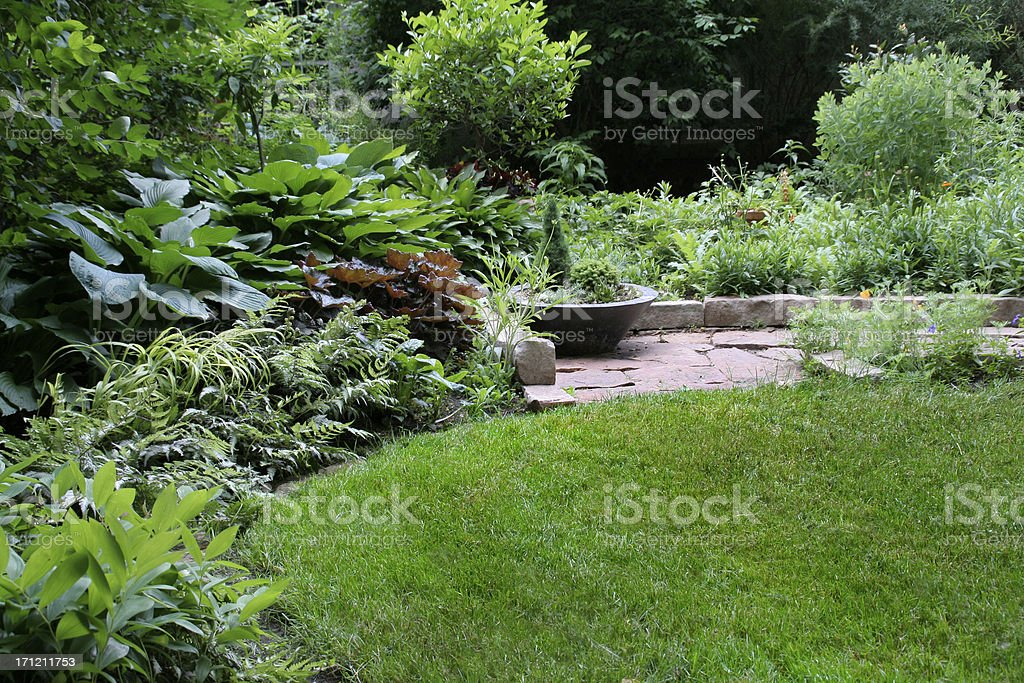Quiet Lush Garden stock photo