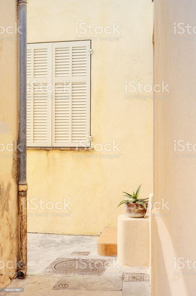 Quiet Mediterranean Street Scene royalty-free stock photo